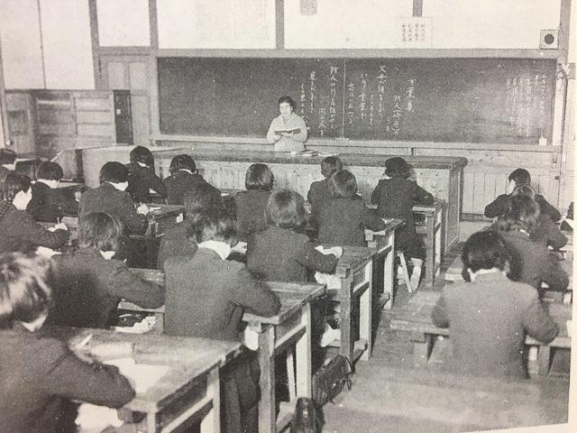 昭和34年 家庭科2組 授業風景